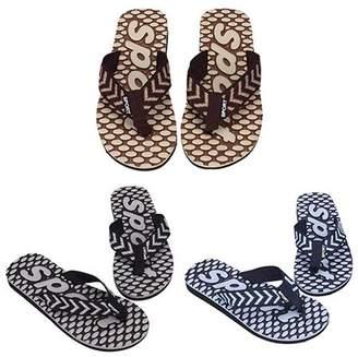 POLYHYMNIA Men's Summer Sport Dot Print Indoor Slippers Outdoor Flip Flops Beach Sandals