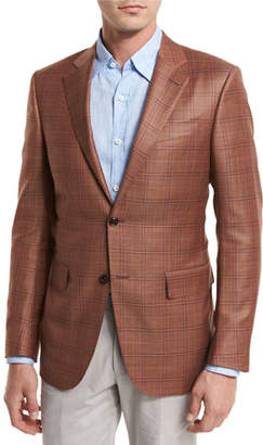 Ermenegildo Zegna Plaid Wool Two-Button Sport Coat, Rust $1,995 thestylecure.com
