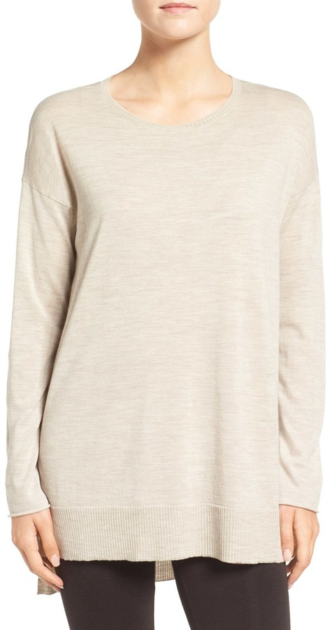 Eileen Fisher Featherweight Merino Wool Sweater 21
