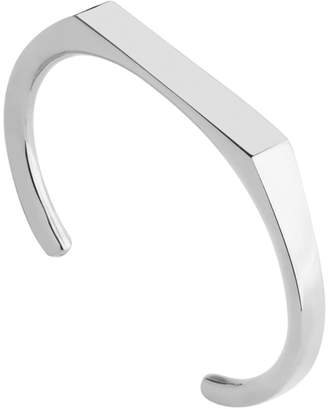 Edge of Ember - Angled Silver Cuff