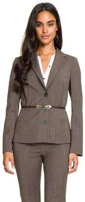 Le Château Women's Belted Notch Collar Blazer,S