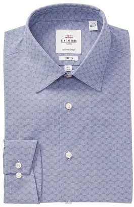 Ben Sherman Geo Tailored Slim Fit Dress Shirt