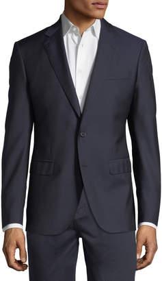 Neiman Marcus Wool Two-Button Blazer