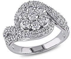 HBC CONCERTO 2CT Diamond 14K White Gold Floral Engagement Ring