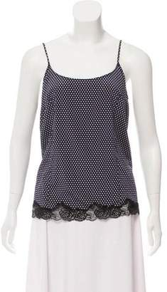 Stella McCartney Silk Polka Dot Sleeveless Top