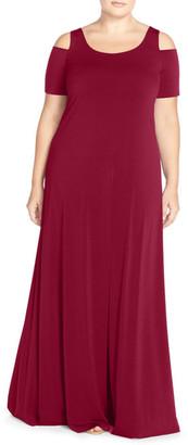 Mynt 1792 Cold Shoulder Maxi Dress (Plus Size) $168 thestylecure.com