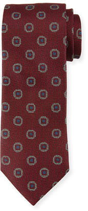 Canali Tossed Pines Silk Tie, Pink