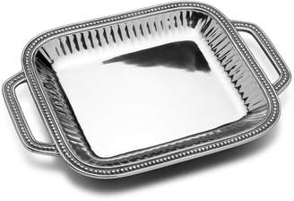 Wilton Armetale Flutes & Pearls Rectangular Tray with Handles