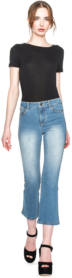 Alice + OliviaBryce Cropped Flare Jean