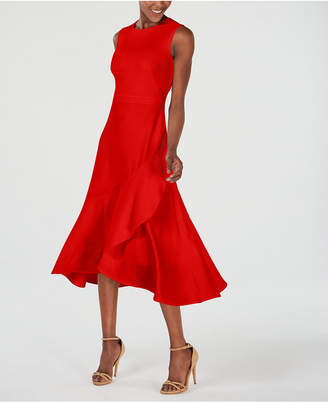 Calvin Klein Sleeveless Flounce-Hem A-Line Dress