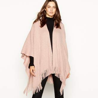 Principles - Light Pink Sequin Ribbed Knit Poncho