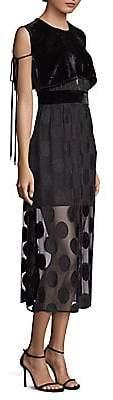 Yigal Azrouël Azrouël Women's Polka Dot Midi Dress