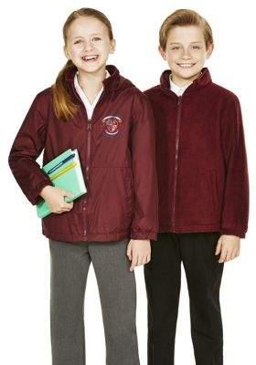 F&F Unisex Embroidered Reversible School Fleece Jacket 15-16 yrs