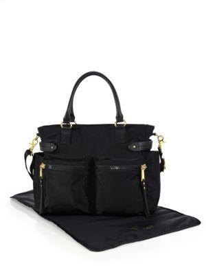 Rebecca Minkoff Zoe Leather Trim Diaper Bag $295 thestylecure.com