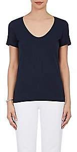 Barneys New York Women's Pima Cotton Scoopneck T-Shirt - Navy