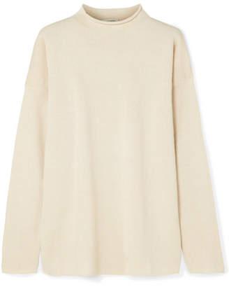 Mansur Gavriel Alpaca And Silk-blend Sweater - Cream