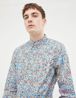 Pretty Green x The Beatles paisley slim fit shirt in multi