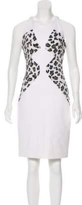 Cushnie et Ochs Leopard Print Knee-Length Dress