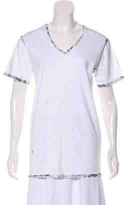 Balmain Splattered Short Sleeve T-shirt