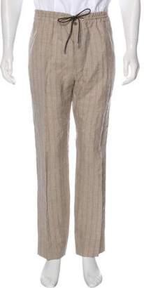 Hermes Striped Linen Drawstring Pants