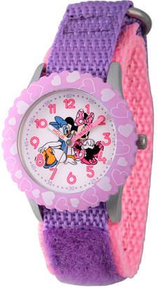 DISNEY MINNIE MOUSE Disney Minnie Mouse Girls Purple Strap Watch-Wds000162