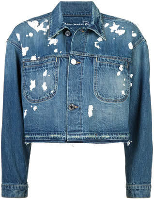Oscar de la Renta sequin detail denim jacket