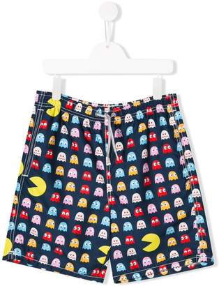 MC2 Saint Barth Kids Pac-man print swim shorts