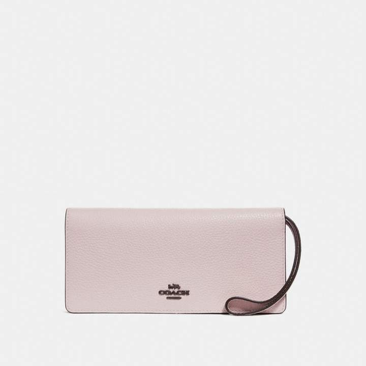 Coach New YorkCoach Slim Wallet In Colorblock - ICE PINK MULTI/BLACK COPPER - STYLE