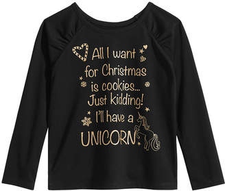Epic Threads Little Girls Christmas Shirt, Created for Macy's