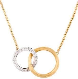 Marco Bicego 18K Diamond Circle Link Pendant Necklace