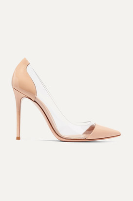 Gianvito Rossi Plexi 105 Patent-leather And Pvc Pumps - Neutral