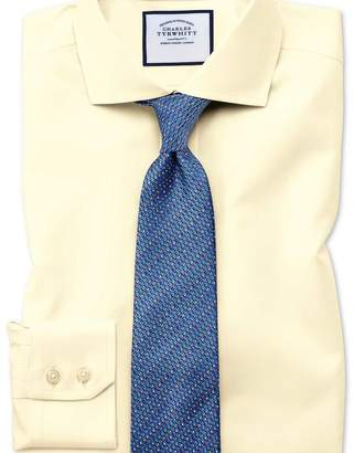 Charles Tyrwhitt Slim fit cutaway collar non-iron twill yellow shirt
