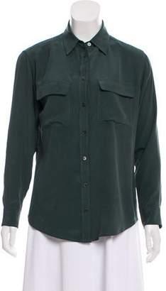 Equipment Silk Button-Up Blouse