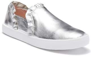 Kate Spade Lilly Metallic Leather Ruffled Slip-On Sneaker