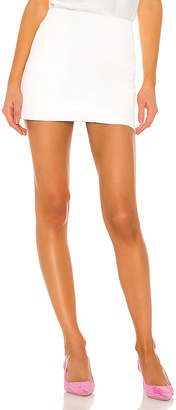 Alice + Olivia Elana Leather Mini Skirt