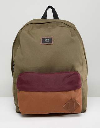 Vans Old Skool II Backpack In Khaki