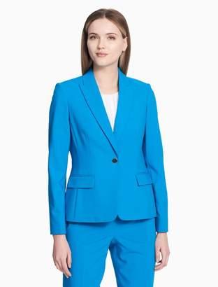 Calvin Klein luxe one button jacket