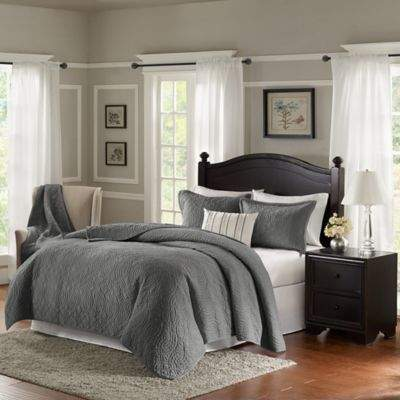 Bombay® Taryn 4-Piece Queen Quilt Set in Grey