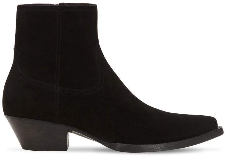 40mm Santiag Suede Ankle Boots