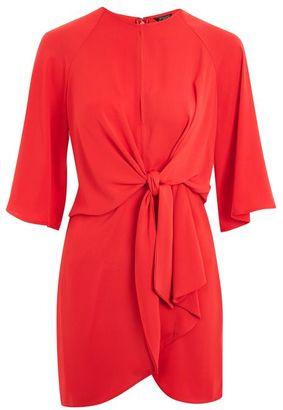 Topshop Knot front mini shift dress