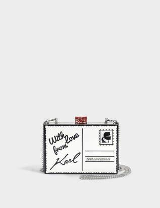 Karl Lagerfeld Postcard Minaudière Bag in Black Plexi