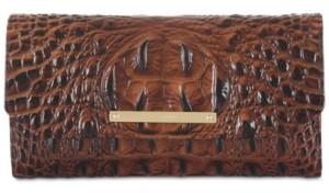 Brahmin Soft Checkbook Melbourne Embossed Leather Wallet