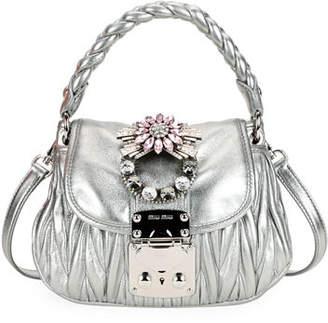 Miu Miu Coffer Micro Mini Matelasse Top-Handle Satchel Bag