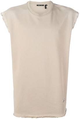Helmut Lang raw edge sleeveless sweatshirt