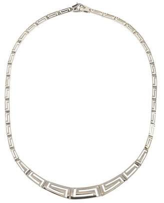 14K Greek Key Collar Necklace