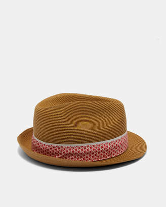 Ted Baker PLAYON Straw trilby hat