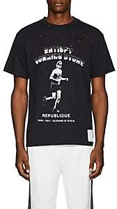"Satisfy Men's ""Running Store"" Distressed Cotton T-Shirt - Black"