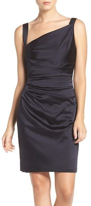 Women's Vera Wang Asymmetrical Satin Sheath Dress $228 thestylecure.com