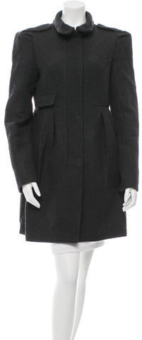 Miu Miu Miu Miu Wool Pleated Coat