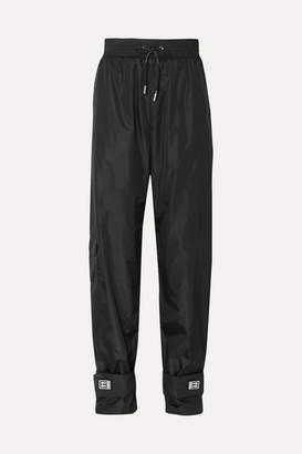 Off-White Appliquéd Shell Track Pants - Black